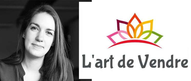 Photo portrait de Marie-Laure Beauvallet, formatrice en développement commercial et le logo de sa marque commerciale