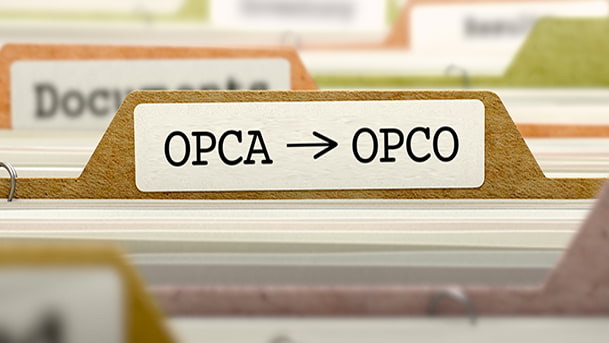 """Etiquette """"OPCA-OPCO"""""""